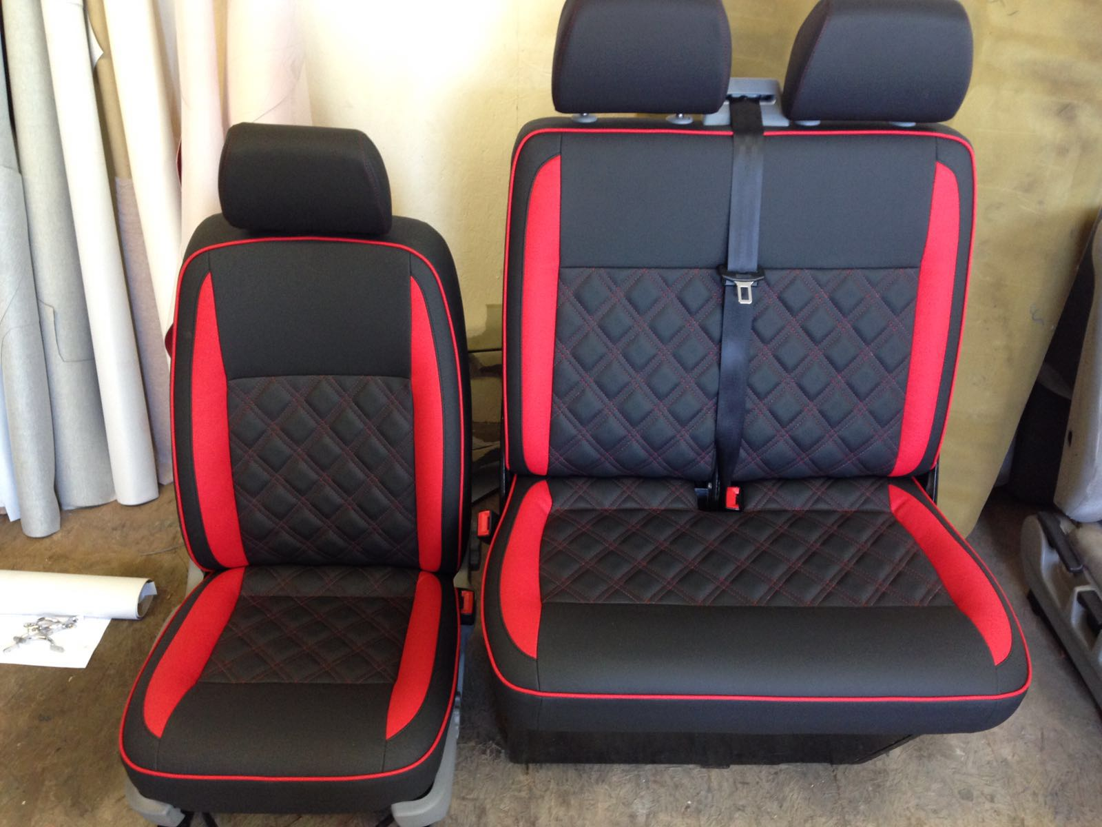 CSG Trimming Southampton - VW Seat retrim with Bentley Stitch